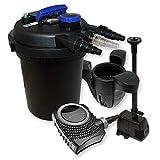 Kit Filtro de Estanque a presión 10000l-clarificador UV 11W Fuente Ecumeur Bomba de bajo Consumo