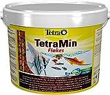 TetraMin Flakes Alimento para peces en forma de escamas, para peces sanos y aguas claras, 10 L