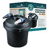 All Pond Solutions Koi - Filtro a presión para estanques de Peces y esterilizador de luz UV para estanques, 8000 litros