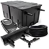 SunSun Filtro Set 60000l Estanque 18W Clarificador NEO8000 70W Bomba 25m Tubo
