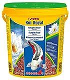 Sera Koi Royal Large (6 mm) es un alimento para una Larga y Sana Vida de Koi a Partir de 25 cm con prebiticos para una Mejor alimentacin alimentaria, Menor Carga de Agua y Menos Algas.