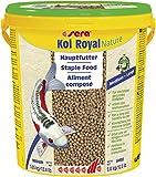 Sera Koi Royal Large (6 mm) es un alimento para una Larga y Sana Vida de Koi a Partir de 25 cm con prebióticos para una Mejor alimentación alimentaria, Menor Carga de Agua y Menos Algas.